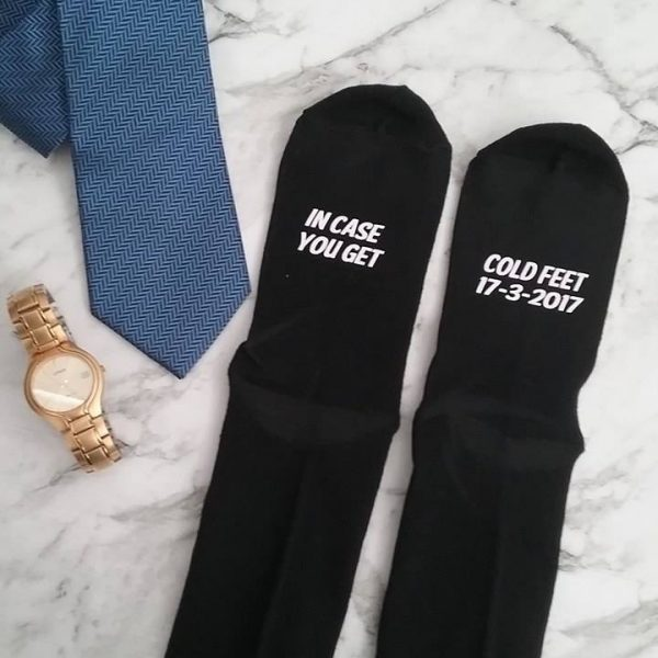 incase you get cold feet socks, in case of cold feet socks,  cold feet wedding socks