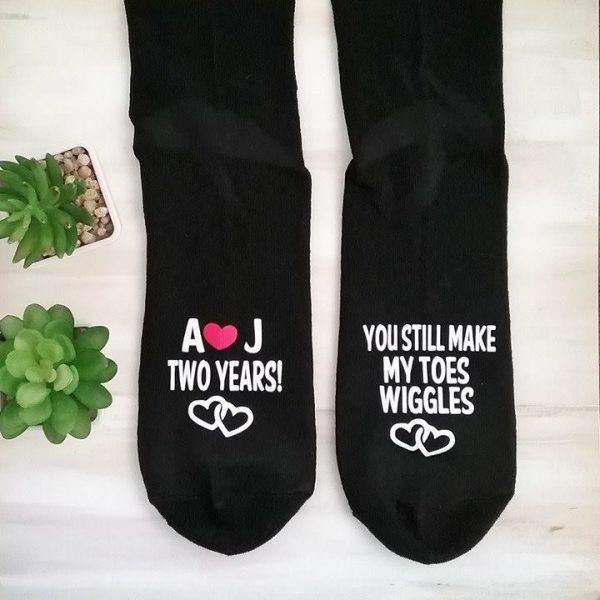 personalised socks, custom wording socks, wedding socks, anniversary socks, wedding anniversary gift, bridal bling australia