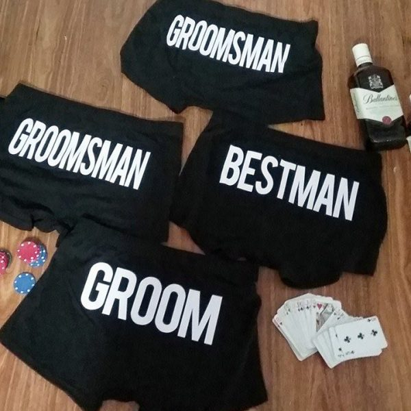 personalised underwear australia, Best man underwear, Groomsmen underwear
