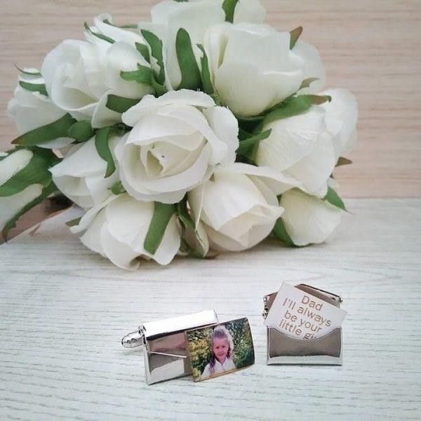 Brides Father cufflinks, personalised cufflinks wedding, envelop cufflinks, secret message cufflinks, hidden message cufflinks