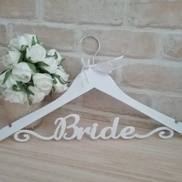 bridal hanger, wedding hanger, exclusive wedding hanger, personalised wedding gifts Australia, Bride Gift