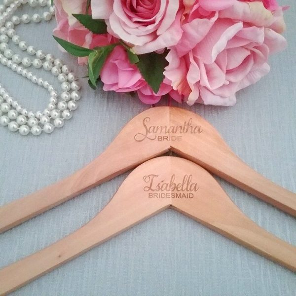 Wedding party Engraved Hanger, bridal party coat hangers Australia, customised hangers, engraved coat hangers weddings