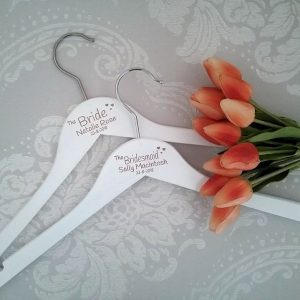 wedding gifts for bridesmaids, wedding party gifts, affordable wedding hangers, Personalised Gifts Australia, Wedding hangers