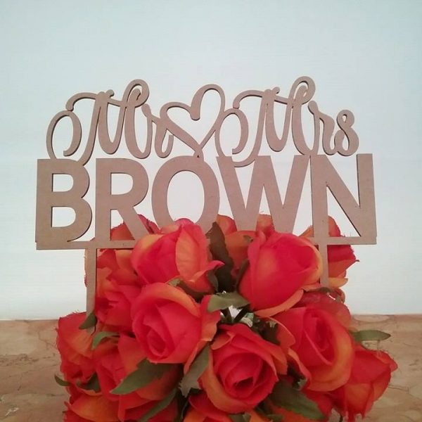 Mr and Mrs Bold Cake Topper, personalised cake toppers wedding, personalised wedding cake toppers, cake toppers for weddings Australia