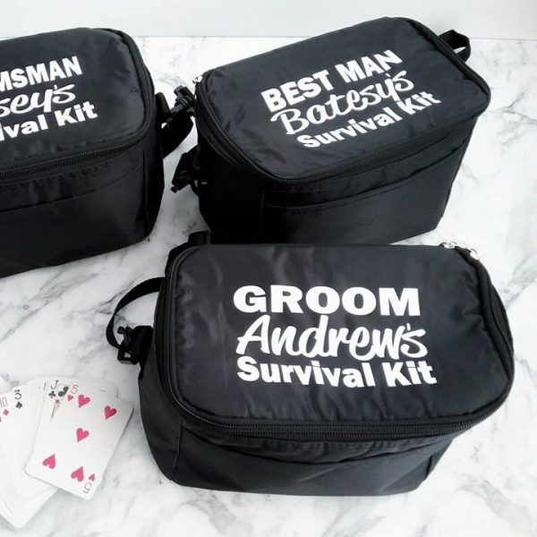 groom gift, wedding emergency kit for groom, best man gift idea, groomsman gifts, gifts for bestman and groomsmen, personalised cooler for wedding