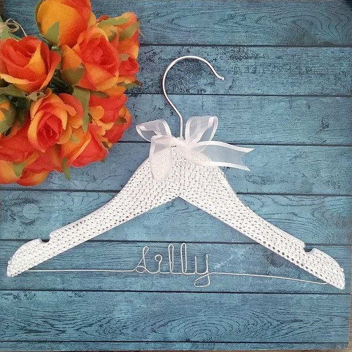 Child\'s Glamour Name Hanger| Childrens Hangers | Bridal Bling