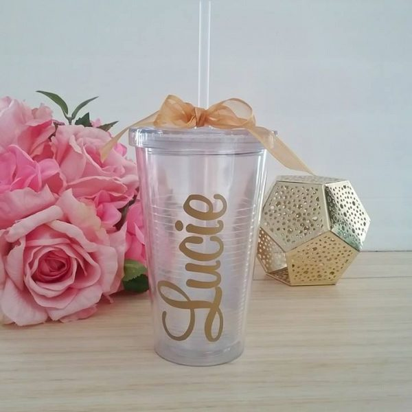 personalised cups, personalised water tumbler,wedding drink names,bridesmaid bottles