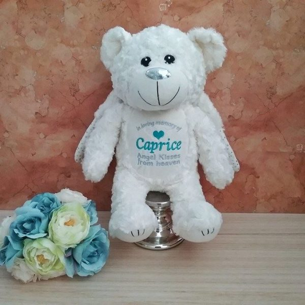 Remembrance Gift, Memorial Gift, In loving Memory of, Personalised Teddy Bear, Personalised Angel Bear, Angel Bear Australia