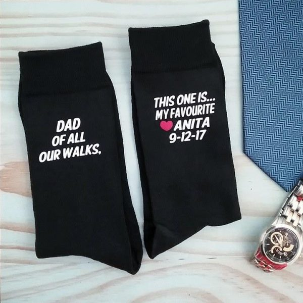 father of the bride socks, gift for father of the bride, socks for father of the bride, wedding socks Australia
