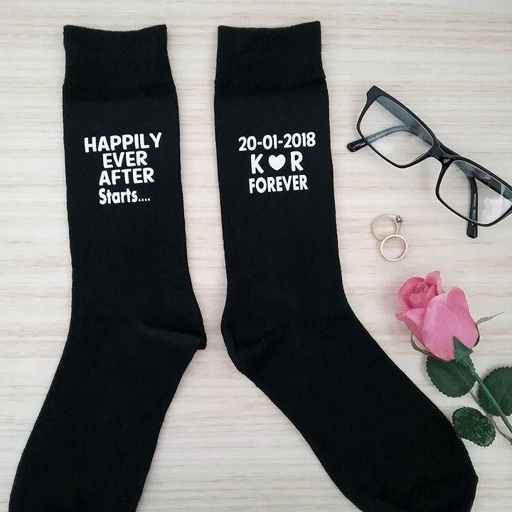 Happily Ever After  Wedding Socks   Bridal Bling