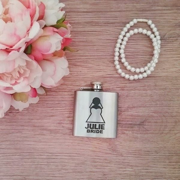 gift for bride, ladies hip flask, personalised hip flask, all things bridal