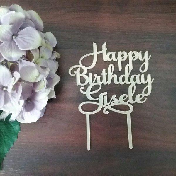 Happy Birthday Name Cake Topper, personalised birthday cake toppers, cake topper birthday, custom birthday cake toppers, personalised cake topper for birthday