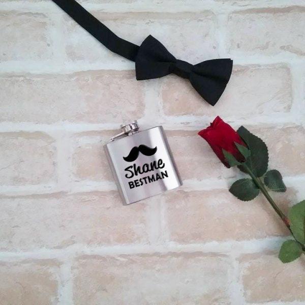 3oz hip flask, personalised flask, bestman gift, groomsmen gifts