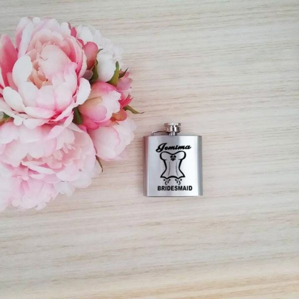 gift for bridesmaid, ladies hip flask, hip flask australia, sterling silver hip flask
