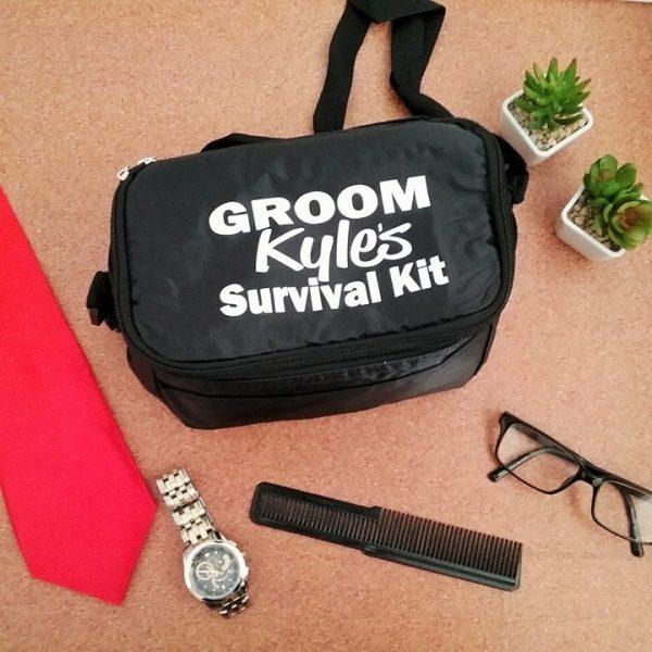 grooms wedding gift, grooms survival kit, groom cooler bag, personalised groom gift