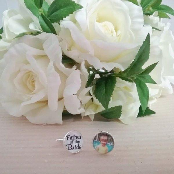 personalised cuff links, mens cufflinks, photo cufflinks, groom cufflinks