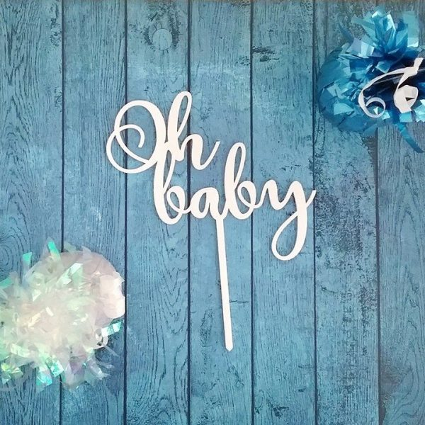 Oh baby Cake Topper, baby shower cake topper, cake topper for baby shower, baby shower cake toppers, baby cake toppers