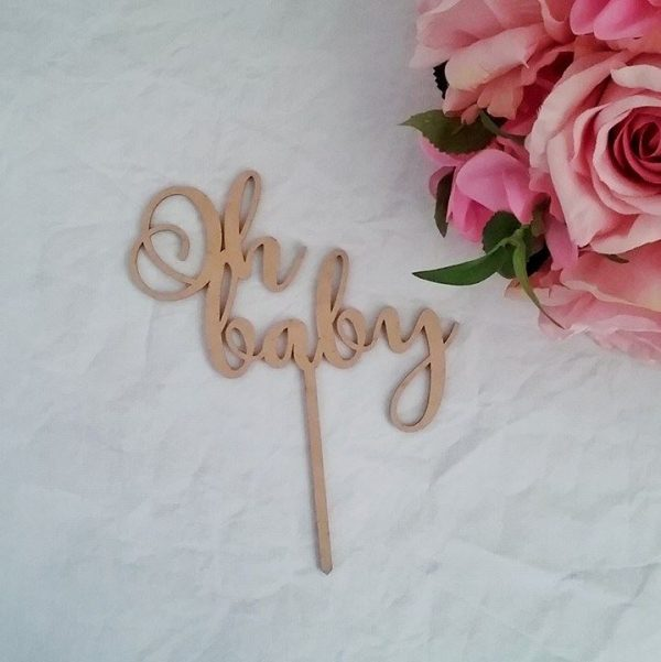 oh baby cake topper, baby shower cake topper, personalised baby shower cake toppers Australia