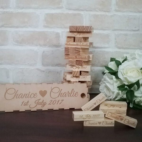 Jenga wedding Blocks, Jenga Style Wooden Signing Blocks, jenga wedding guest book sign, Bridal Bling Australia