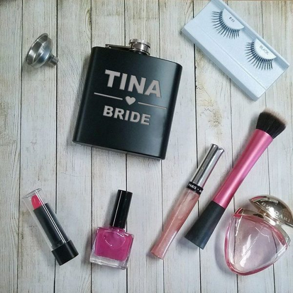 bridal party gifts, custom hip flasks, stainless steel hip flask, silver hip flask, all things bridal