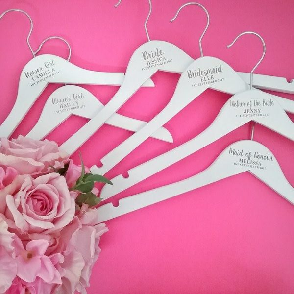 wedding coat hangers, bridesmaid gifts, customised hangers, personalised hangers for bridesmaids, Bridal Bling Australia