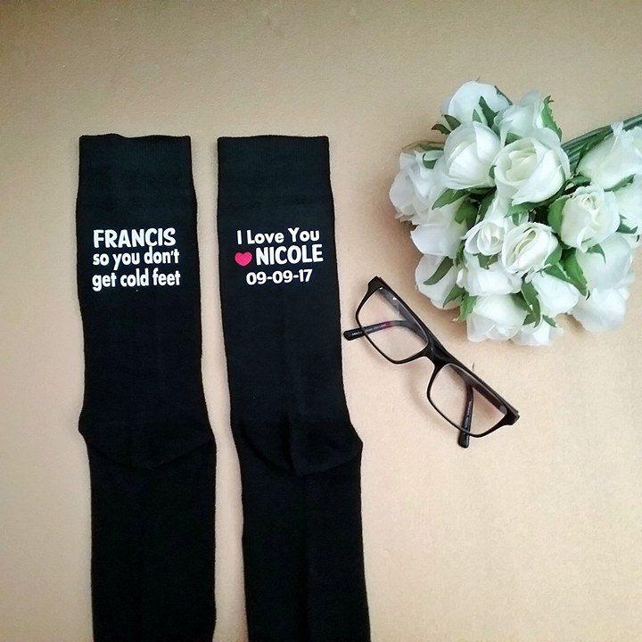 Personalised Groom Cold Feet Socks   Bridal Bling