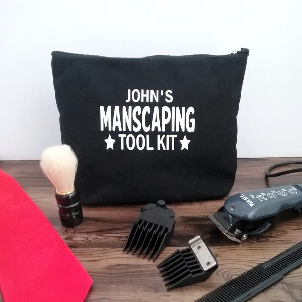 Manscaping Personalised Bag, Personalised gift for men, personalised man bag, personalised gift for men, personalised gifts Australia