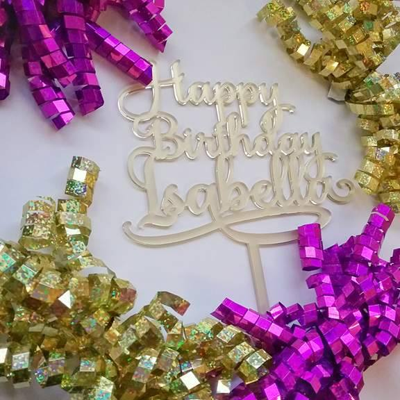 Personalised Birthday Cake Toppers Bridal Bling