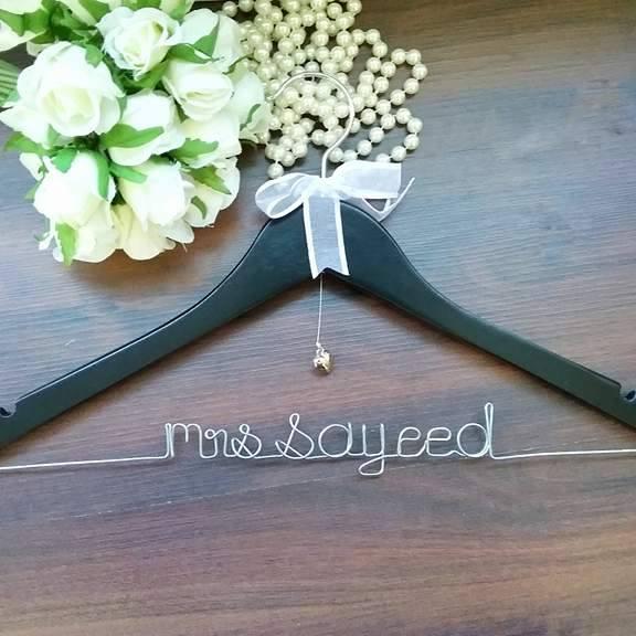 wire wedding hanger, bridal coat hangers, wedding coat hangers Australia, bridal coat hangers