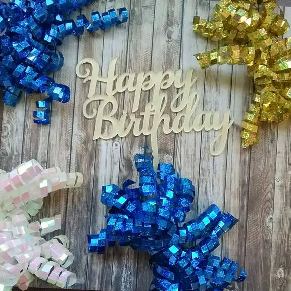 Simple Happy Birthday Cake Topper Toppers Australia