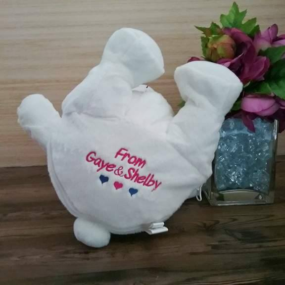 personalised teddy bear, wedding bears, embroidered teddy, EB buddy bear