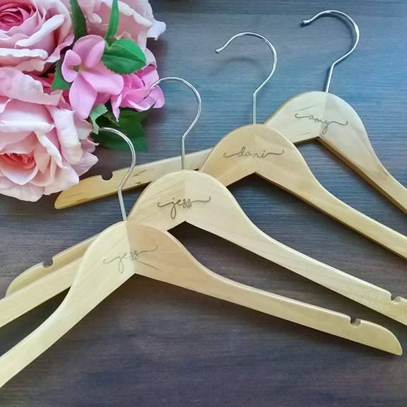 custom wedding coat hangers, wedding coat hangers, bridesmaid coat hangers, affordable name hangers