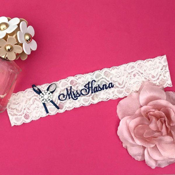 stretch lace wedding garter, wedding garters lace, personalised wedding garter, custom wedding garters australia