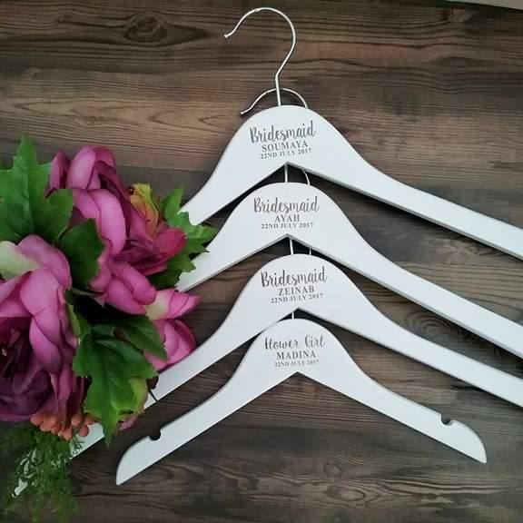 personalised hanger for bride, personalised hangers for bridesmaids, wedding name hangers, Bridal Bling Australia