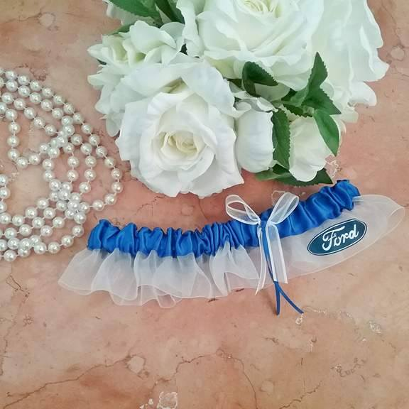 ford racing garter, personalised garters, wedding garters Australia,