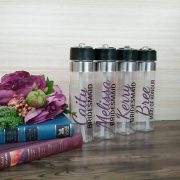 custom water bottles for weddings, personalised drink bottles, wedding drink bottles, personalised gifts for bridesmaids