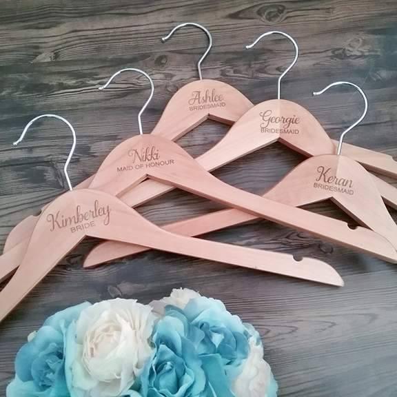 personalised hangers weddings, engraved coat hangers, bridal party hangers, mrs coat hangers, Bridal Bling Australia