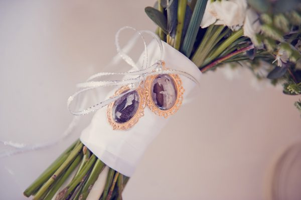 memory charm, in memory charm, photo charm, bouquet charm for bride