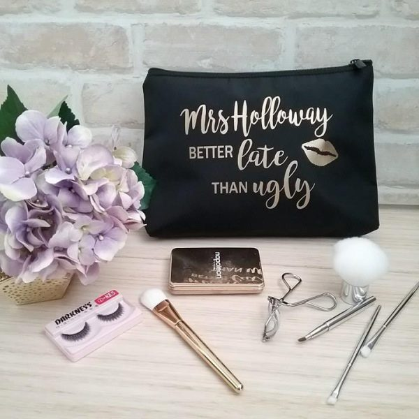 bridal party gifts australia, bridal cosmetic bag, personalised gifts australia, gift for girl