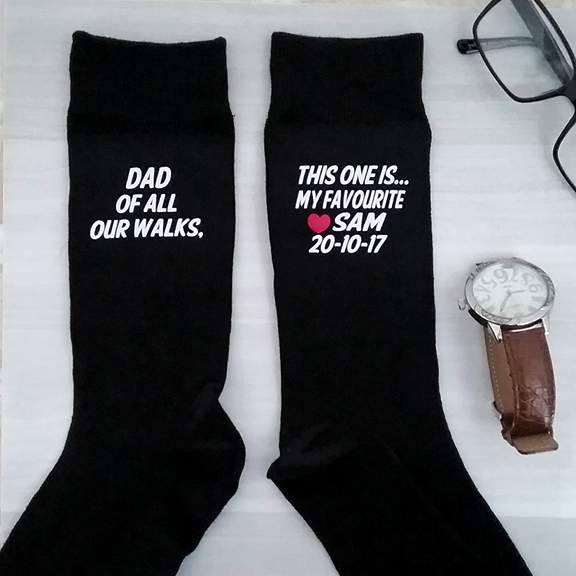 father of the bride gifts Australia, father of the bride socks, personalised wedding socks, personalised socks Australia, Bridal Bling