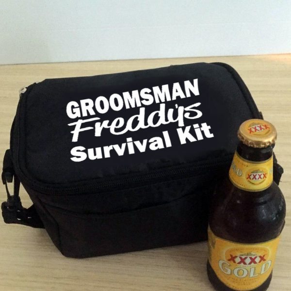 Groomsman survival kit, personalised cooler bag, wedding gift for best man, unique groomsmen gift, bridal party gifts Australia