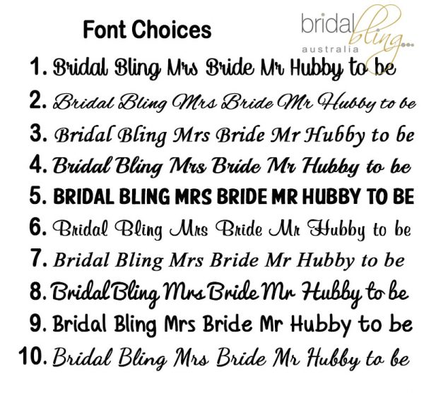 Bridal Bling Australia, Personalised Bridal Party Gifts Australia,