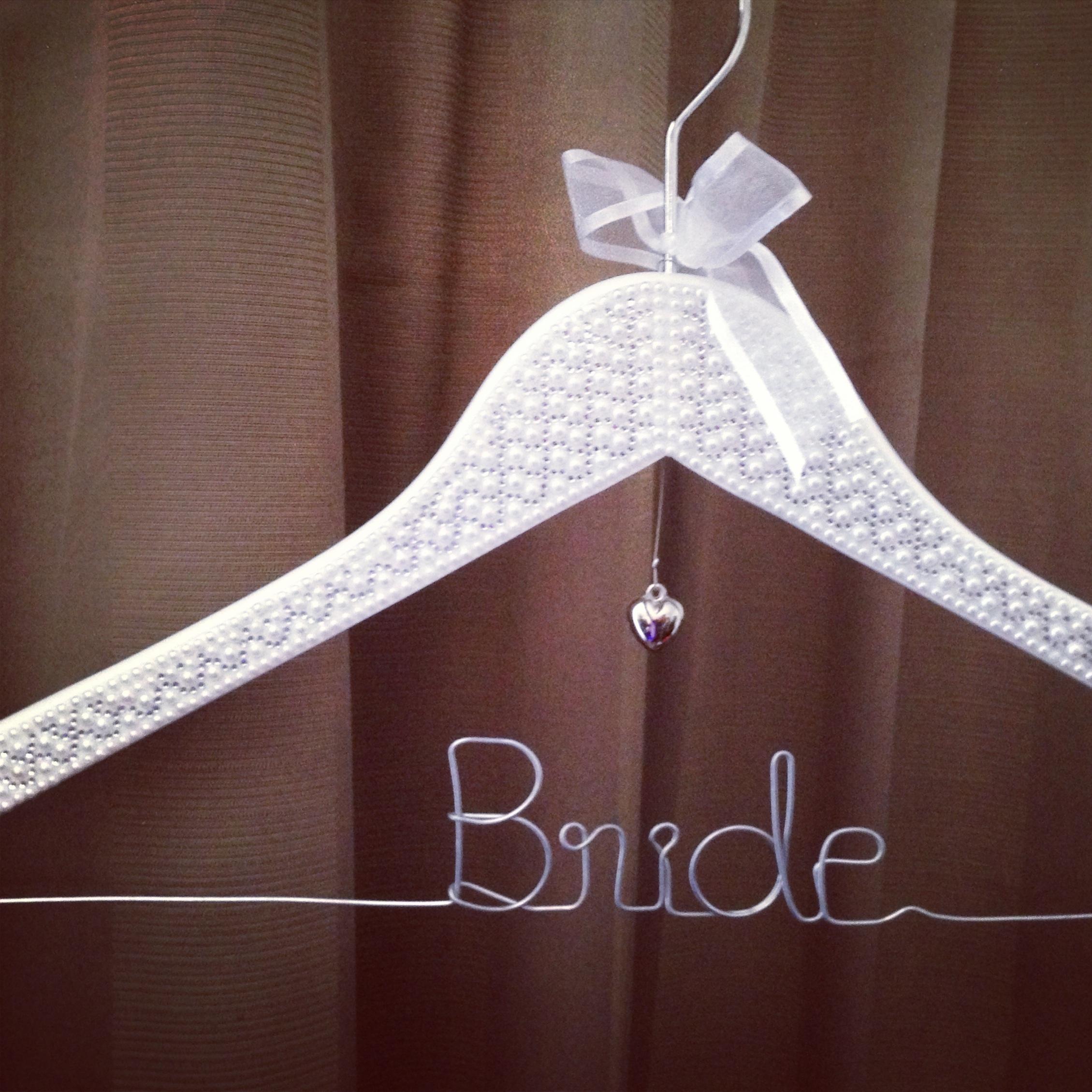 Wedding Dress Hanger.Pearl Bride Hanger Majestic Bride Hanger