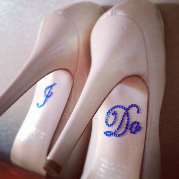 I do blue shoe stickers, bride shoe stickers Blue, I do blue stickers