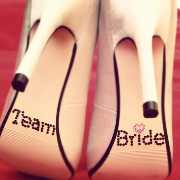 Team Bride Shoe Stickers, rhinestone team bride shoe stickers, shoe stickers for wedding shoes