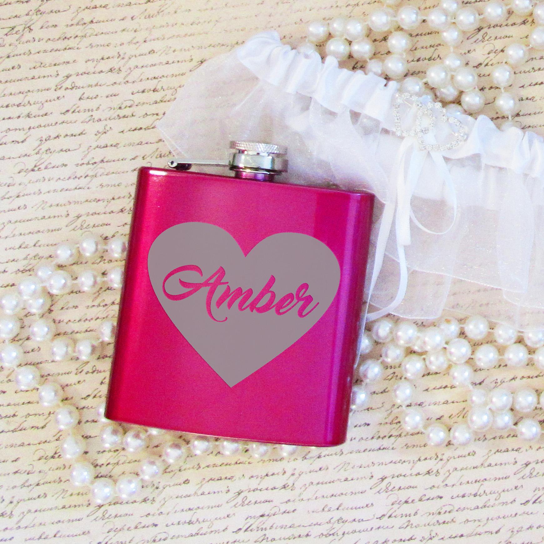 Large Heart Hip Flask | Bridal Bling