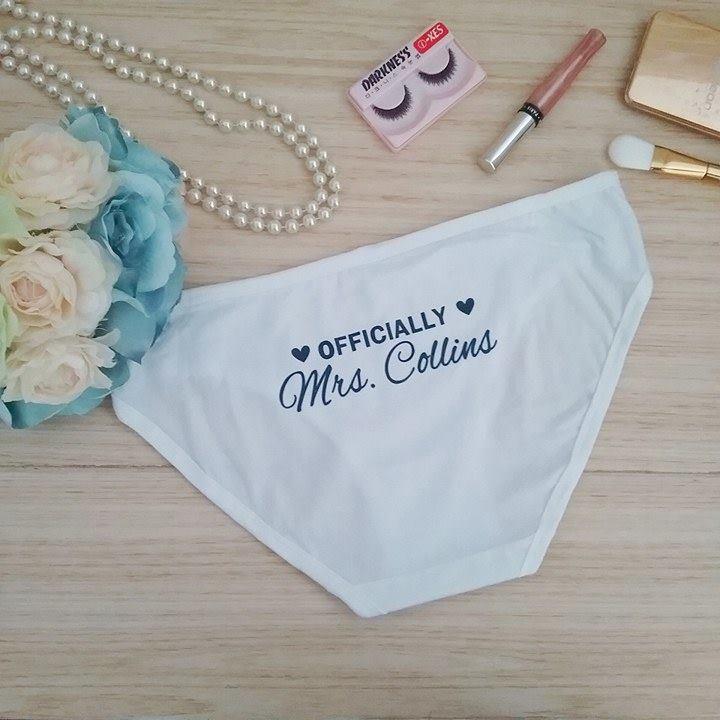 clearance sale distinctive style new authentic Mrs Underwear, Wedding Underwear for Bride