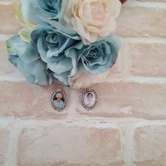 memory brooch for bouquet, memory brooch for groom suits, grooms memorial charm, wedding charms Australia