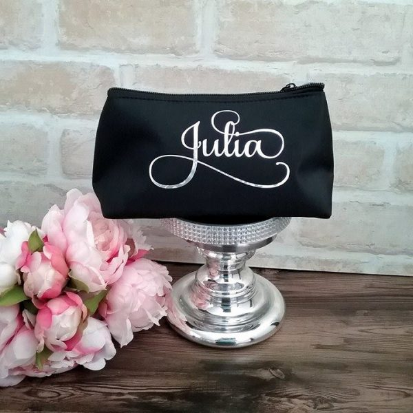 personalised make up bag, cosmetic bag australia, bridal touch up kit, bridal bling