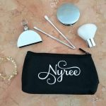 Personalised touch up bag, bride bags, customised makeup bag, personalised small makeup bag